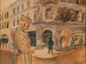 Szovjet katona békegalambbal