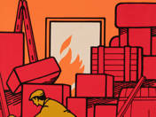 A rendetlen raktár tűz és baleset veszélyes! - plakát