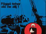 Függő teher alá ne állj! - plakát