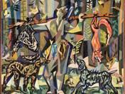 Vadászzsákmány gobelinterv (1958)