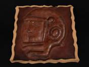Gagarin bőrrelief