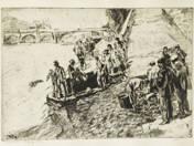 Kutyafürdetés a Szajna parton