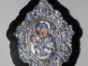 Görög ikon-Istenanya a Gyermekkel és angyalokkal