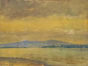 Dunapart hegyekkel