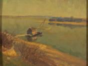 Március (Halászkunyhó a vizen)