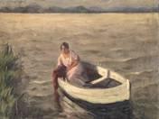 Balatoni csónakázó