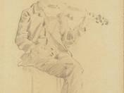 Hegedülő férfi