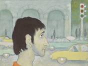 Ifjú festő autókkal