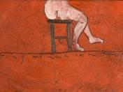 Teraszon üldögélő nő (2010)