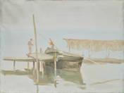 Horgászok alkonyatkor