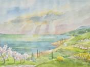 Tavaszi fény a Balatonon