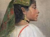 Itáliai lány fülbevalóval