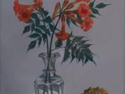 Trombitavirágok dísztökkel
