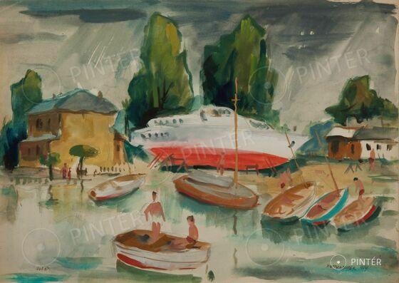 Mosshammer György: Hajókikötő