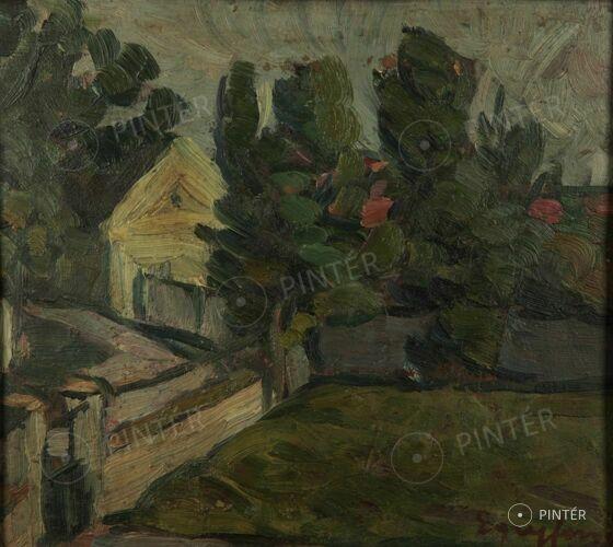 Egry József (1883-1951): Kertrészlet