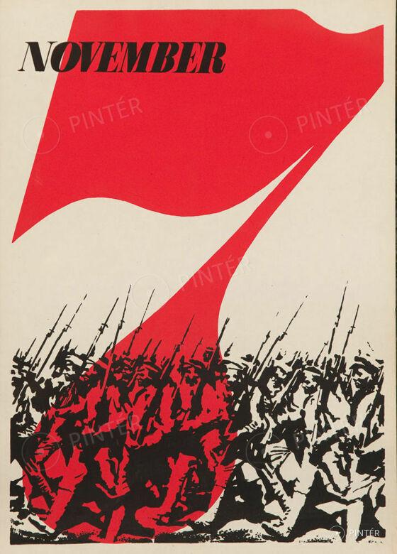 November 7 plakát (ofszet, papír, 70 x 50 cm) kikiáltási ár: 10.000 HUF